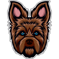 Наклейка Собака-095, фото 1
