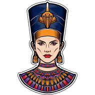 Наклейка Нефертити, фото 1