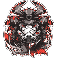 Наклейка Штурмовик в самурайском шлеме, фото 1