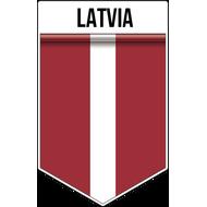 Наклейка Флаг Латвии, фото 1