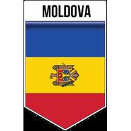 Наклейка Флаг Молдовы, фото 1