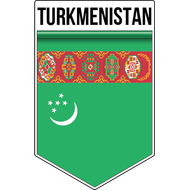 Наклейка Флаг Туркменистана, фото 1