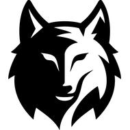 Наклейка Волк-120, фото 1