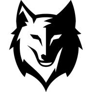 Наклейка Волк-121, фото 1