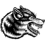 Наклейка Волк-132, фото 1