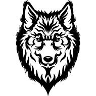 Наклейка Волк-134, фото 1