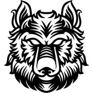 Наклейка Волк-138, фото 1