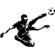 Наклейка Футболист-199, фото 1