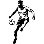 Наклейка Футболист-200, фото 1