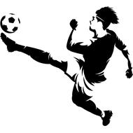 Наклейка Футболист-201, фото 1