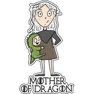 Наклейка Mother of Dragon, фото 1