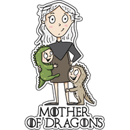 Наклейка Mother of Dragons-2, фото 1