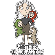 Наклейка Mother of Dragons, фото 1