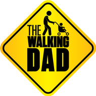 Наклейка The Walking Dad, фото 1