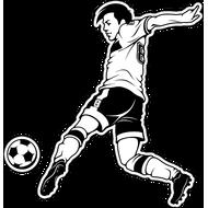 Наклейка Футболист-192, фото 1