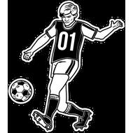 Наклейка Футболист-193, фото 1