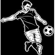Наклейка Футболист-194, фото 1