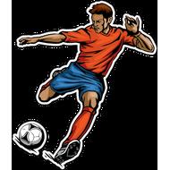 Наклейка Футболист-196, фото 1