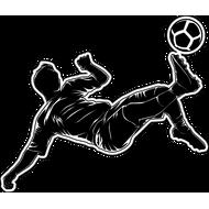 Наклейка Футболист-197, фото 1