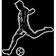 Наклейка Футболист-198, фото 1