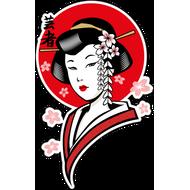 Наклейка Японская женщина-209, фото 1