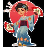 Наклейка Японская танцовщица-212, фото 1