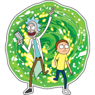 Наклейка Rick and Morty, фото 1