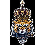 Наклейка Тигр в короне-070, фото 1