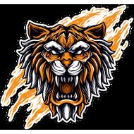 Наклейка Тигр-071, фото 1