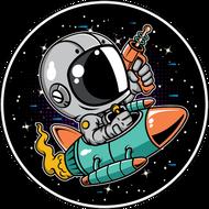 Наклейка Космонавт-194, фото 1