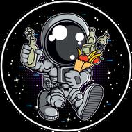 Наклейка Космонавт-200, фото 1