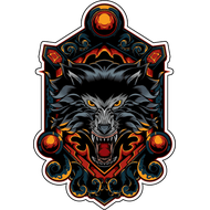 Наклейка Волк-122, фото 1