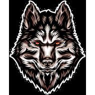 Наклейка Волк-125, фото 1