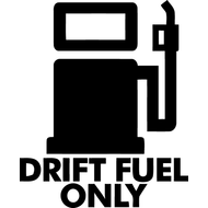 Наклейка Drift fuel only, фото 1