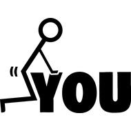 Наклейка F#ck you, фото 1