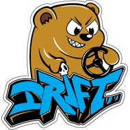 Наклейка Drift bear, фото 1