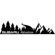 Наклейка Subaru Adventure на левый борт, фото 1
