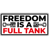 Наклейка Freedom is a Full Tank, фото 1