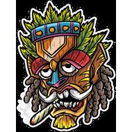 Наклейка Растаманская маска-016, фото 1