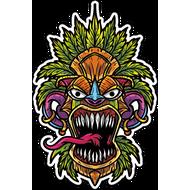 Наклейка Растаманская маска-018, фото 1