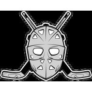 Наклейка Хоккейная маска с клюшками, фото 1