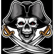 Наклейка Пиратский череп-086, фото 1