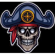 Наклейка Пиратский череп-088, фото 1
