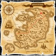 Наклейка Карта острова сокровищ, фото 1