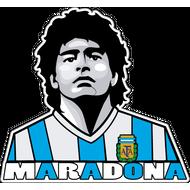 Наклейка Maradona, фото 1