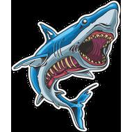 Наклейка Акула-041, фото 1
