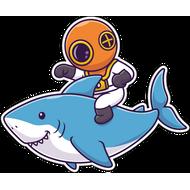 Наклейка Акула-049, фото 1
