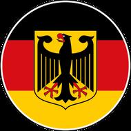 Наклейка Флаг Германии с гербом круглый, фото 1
