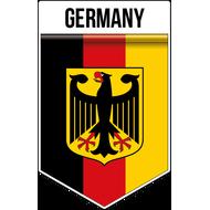 Наклейка Флаг Германии с гербом вертикальный, фото 1