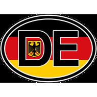Наклейка DE овальная, фото 1